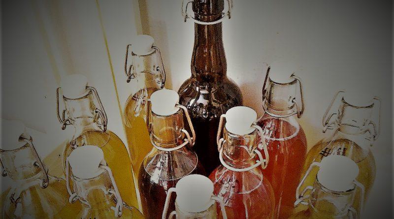 flaskor med mjöd