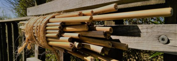 bihotell av bambupinnar
